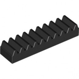 LEGO 374326  TOOTHED BAR M1, Z10 - NOIR