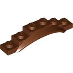 LEGO 6022038 - GARDE BOUE 1X6X1 - Reddish Brown
