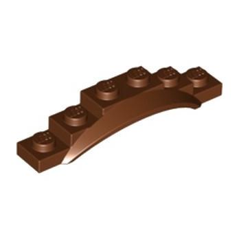 LEGO 6299945 GARDE BOUE 1X6X1 - REDDISH BROWN