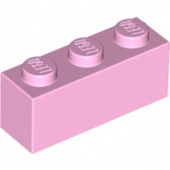 LEGO 6052345 BRIQUE 1X3 - ROSE CLAIR