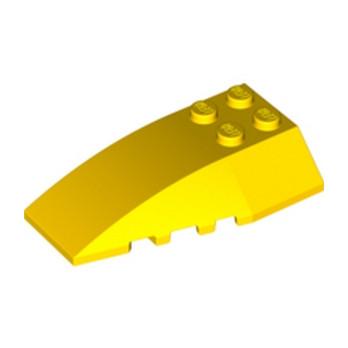 LEGO 4180483 BRIQUE 4X6 W/BOW/ANGLE - JAUNE