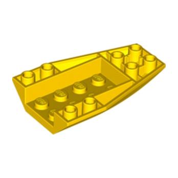 LEGO 6078439 BRICK 4 X 6 W/BOW, INVERTED - JAUNE