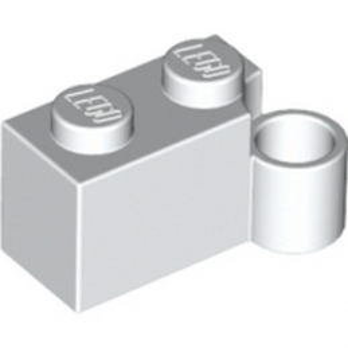 LEGO 383101- BRIQUE 1X2 CHARNIERE BAS - BLANC