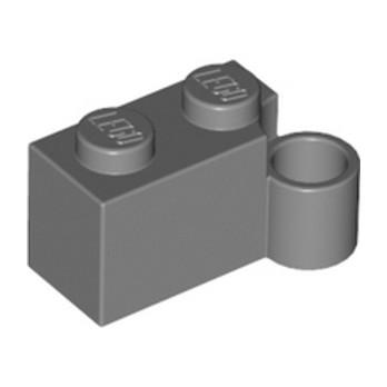 LEGO 4210795 - BRIQUE 1X2 CHARNIERE BAS - DARK STONE GREY