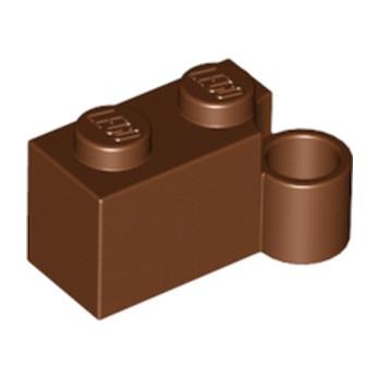 LEGO 4215449 - BRIQUE 1X2 CHARNIERE BAS - MARRON