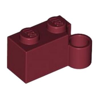 LEGO 4568761- BRIQUE 1X2 CHARNIERE BAS - BORDEAUX