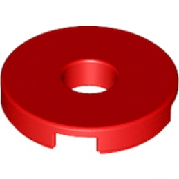 LEGO 6102138 - Plate Lisse Rond W. HOLE Ø4.85 - Rouge lego-6102138-plate-lisse-2x2-trou-rouge ici :