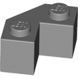 LEGO 4624186 BRIQUE 2X2 ANGLE 45° - DARK STONE GREY
