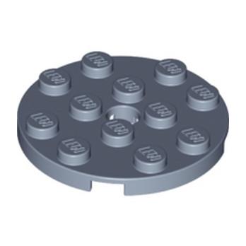 LEGO 6173995 - PLATE 4X4 ROUND W. SNAP - Sand Blue