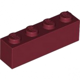 LEGO 4167302 Brique 1X4 - New Dark Red
