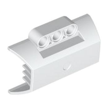 LEGO 4529162 -  DESIGN SHELL W. RIBS Ø4.85  - Blanc