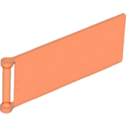 LEGO 6120915 - BANNER W. 3.18 STICK 3X8 - Orange Fluo Transparent