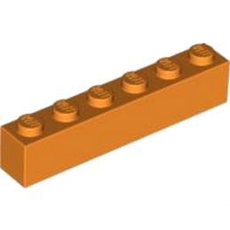 Lego® 4125974 Brique 1X6 - Orange
