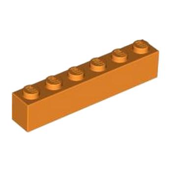 Lego® 4125974 Brique 1X6 - Orange