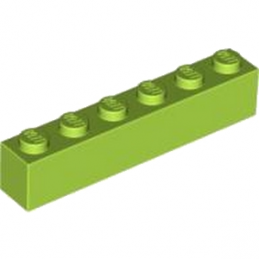 LEGO 4122450 BRIQUE 1X6 - BRIGHT YELLOWISH GREEN