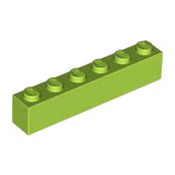 LEGO 4122450 BRIQUE 1X6 - BRIGHT YELLOWISH GREEN