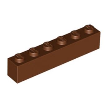 LEGO 4211193BRIQUE 1X6 - REDDISH BROWN