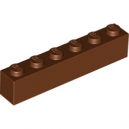LEGO 4211193BRIQUE 1X6 - REDDISH BROWN