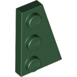 LEGO 6167130 PLATE 2X3 ANGLE DROIT - EARTH GREEN