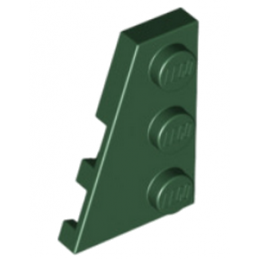 LEGO 6167129 PLATE 2X3 ANGLE GAUCHE - EARTH GREEN