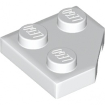 LEGO 6176240 - PLATE 2X2, CORNER, 45 DEG. - BLANC