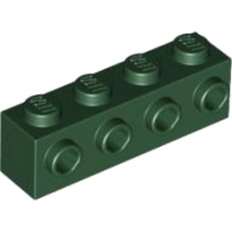 LEGO 4245573 BRIQUE 1X4 W. 4 KNOBS - EARTH GREEN