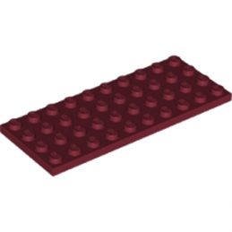 LEGO 6186106 - PLATE 4X10 - NEW DARK RED