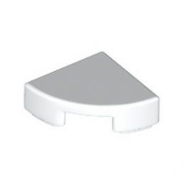 LEGO 6172366 PLATE LISSE 1/4 ROND  1X1 - BLANC