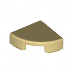 LEGO 6145570 PLATE LISSE 1/4 ROND 1X1 - BEIGE