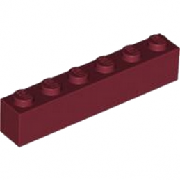 LEGO  4223789 BRIQUE 1X6 - NEW DARK RED