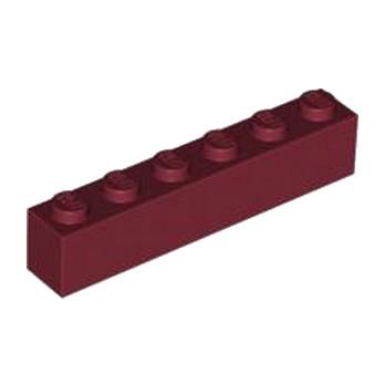 LEGO  4223789 BRIQUE 1X6 - NEW DARK RED lego-4541528-brique-1x6-new-dark-red ici :