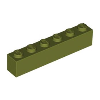 LEGO 6020143 - Brique 1X6 - Olive Green