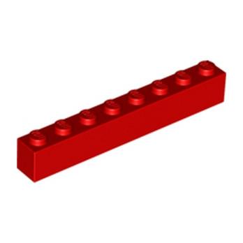 LEGO 300821 BRICK 1X8 - RED