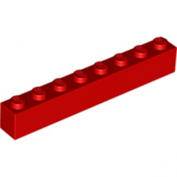 LEGO 300821 BRIQUE 1X8 - ROUGE