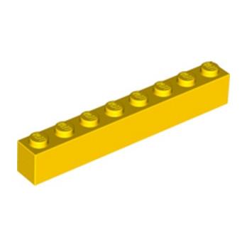LEGO 300824 BRIQUE 1X8 - JAUNE