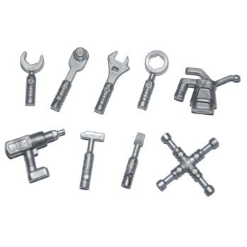 LEGO 6103444 - Accessoires / Outillage x 9 - Gris métal
