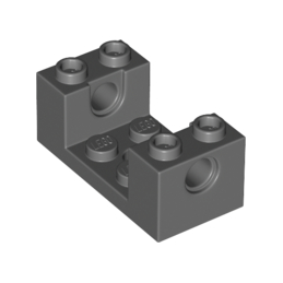 LEGO 6150297 BRIQUE 2X4X1 1/3 W/Ø4.85 CUTOUT - DARK STONE GREY