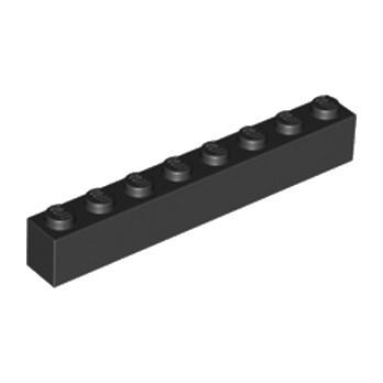 LEGO 300826 BRIQUE 1X8 - NOIR