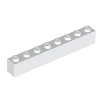 LEGO 300801 BRIQUE 1X8 - BLANC