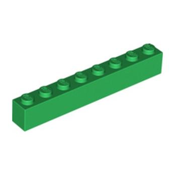 LEGO 300828 BRIQUE 1X8 - DARK GREEN
