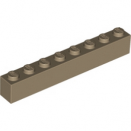 LEGO 6024124 	Brique 1X8 - Sand Yellow