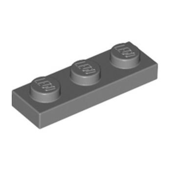 LEGO 4211133 PLATE 1X3 - DARK STONE GREY lego-4211133-plate-1x3-dark-stone-grey ici :