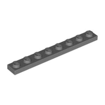LEGO 4210998 PLATE 1X8 - DARK STONE GREY