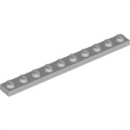 LEGO 4251149	PLATE 1X10 - Medium Stone Grey