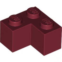 LEGO 4248771 BRIQUE D'ANGLE 1X2X2 - NEW DARK RED