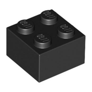 LEGO 300326 - Brique 2X2 - Noir