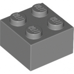 LEGO 4211060 - Brique 2X2 - Dark Stone Grey