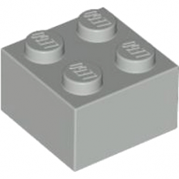 LEGO 4211387 - Brique 2X2 - Medium Stone Grey