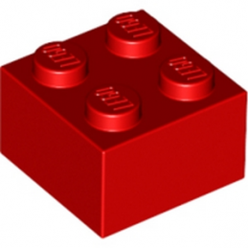LEGO 300321 - Brique  2X2 - Rouge