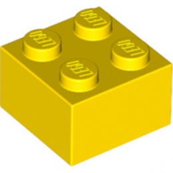 LEGO 300324 - Brique 2X2 - Jaune